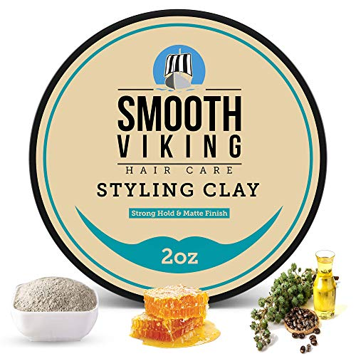 Hair Clay For Men | Smooth Viking Hair Styling...