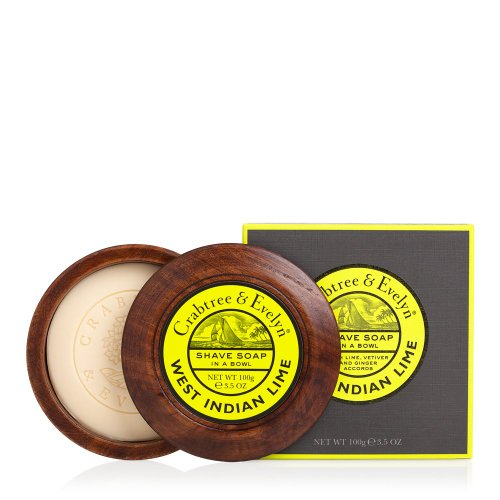 Crabtree & Evelyn Shave Soap in a Wooden Bowl, 3.5...