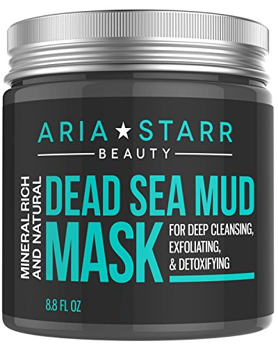Aria Starr Dead Sea Mud Mask For Face, Acne, Oily...