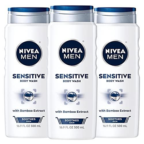 Nivea Men Sensitive 3-in-1 Body Wash, 16.9 Fl Oz...