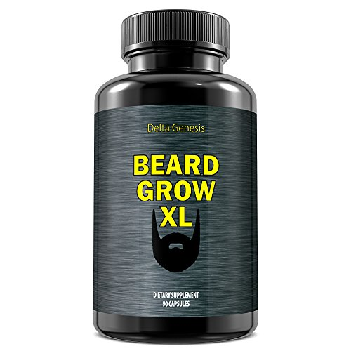 Beard Grow XL | Facial Hair Supplement | Vegan |...