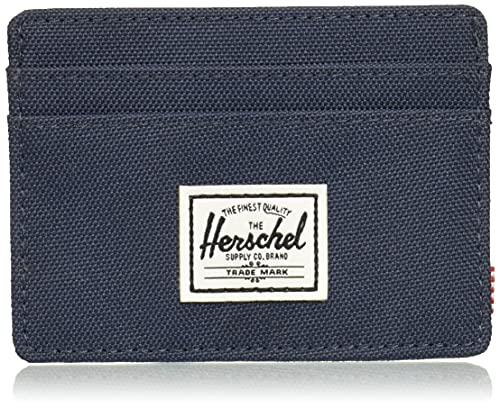 Herschel mens Charlie Rfid Card Case Wallet, Navy,...