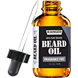 Fragrance Free Beard Oil & Leave in Conditioner, 100% Pure Natural for Groomed Beards, Mustaches, and Moisturized Skin 1 oz by Ranger Grooming Co by Leven Rose (Beard Oil)