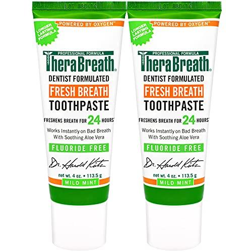 TheraBreath Fresh Breath Toothpaste Free Formula...