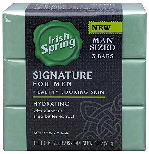 Irish Spring Signature for Men Hydrating Bar Soap...