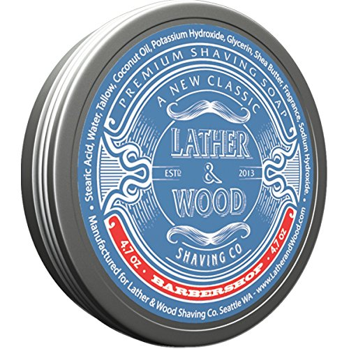Lather & Wood Shaving Soap - Sandalwood - Simply...