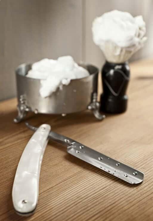 Straight Razor and Shaving Cream