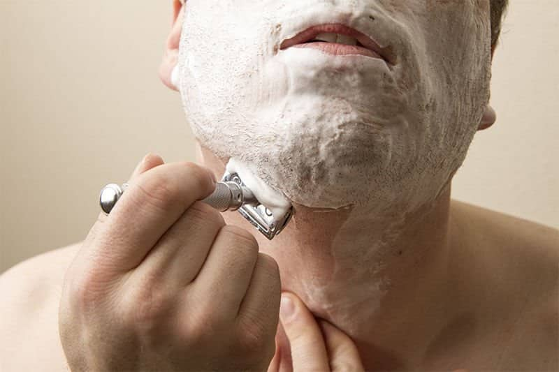 shaving with a double edge razor