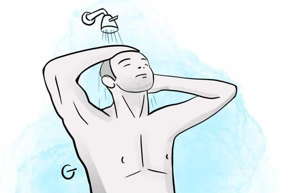 shower before shaving to prevent razor bumps