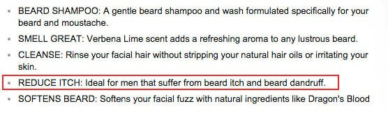 beard wash helps cure a dry beard - tools of men