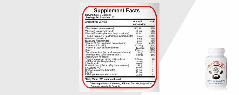 beardilizer bottle info and product shot