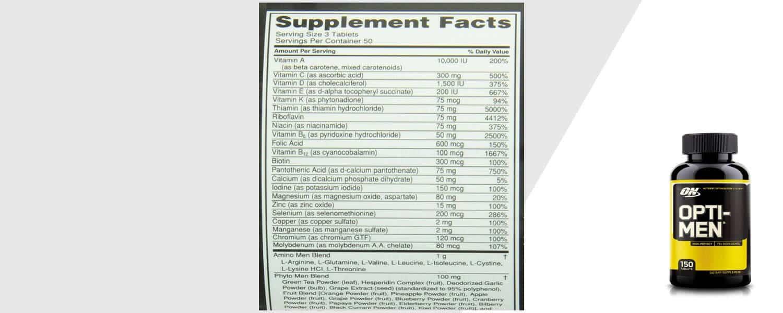 optimen supplement info