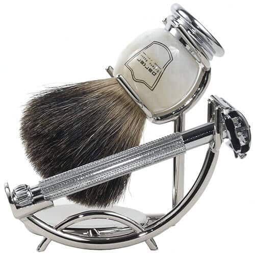 shaving stand to keep badger brush in good shape - tools of men
