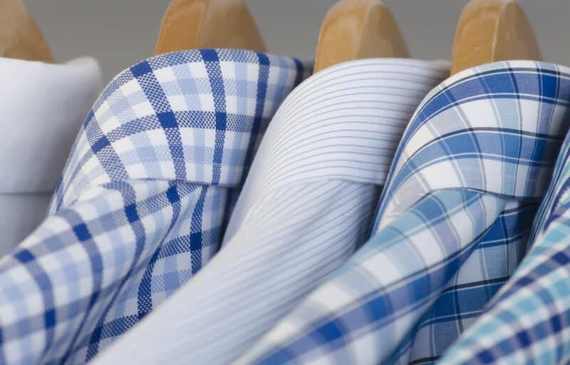 blue and white dress shirts