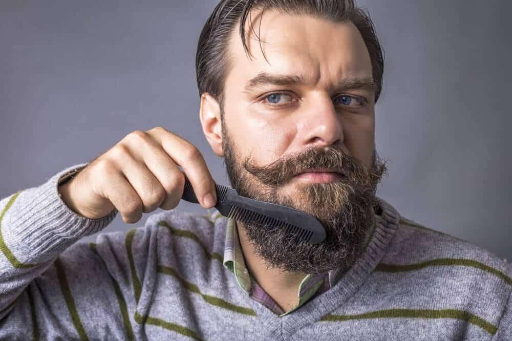 combing a beard properly
