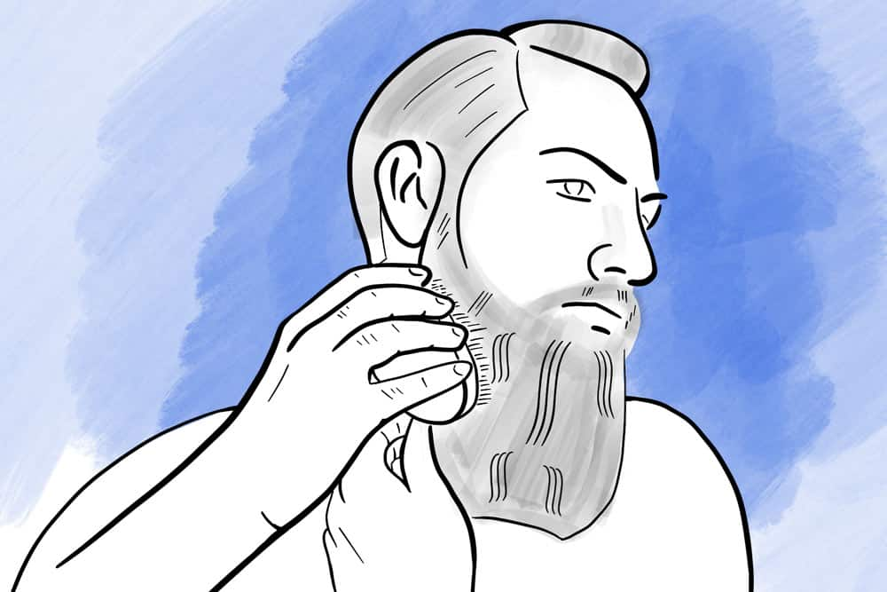 beard brush for better beard oil distribution