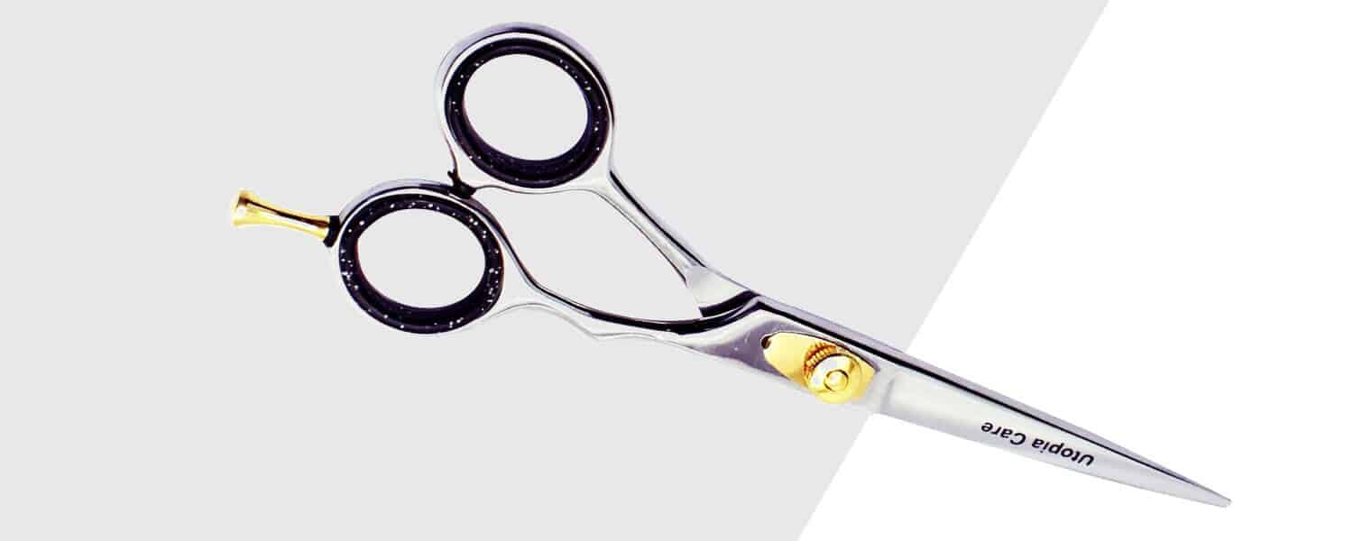 beard shears for trimming a beard to prevent split ends