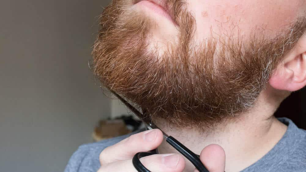 trimming the hair under your neck