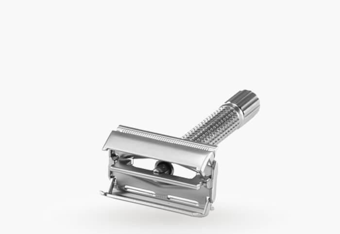 construction of a butterfly double edge razor