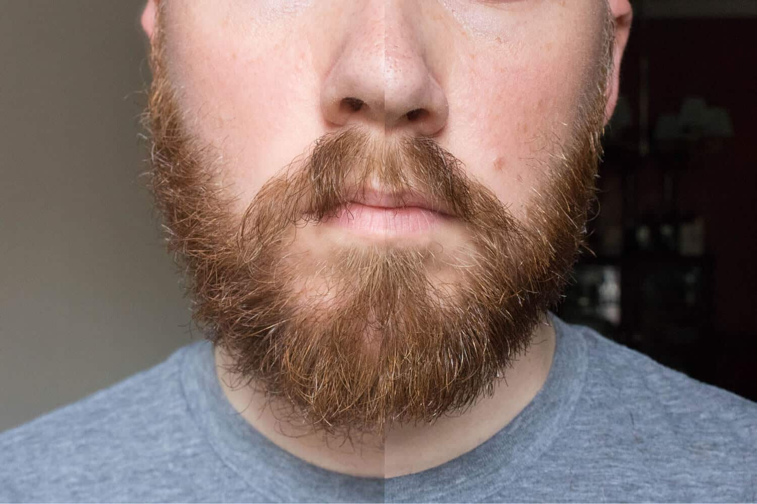 Growing beard shave cock