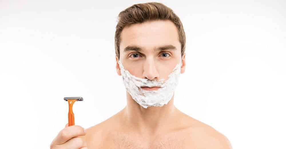 technique to shave your face