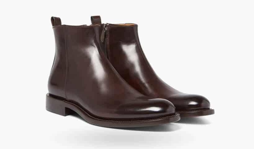 O'KEEFFE - Polished-Leather Chelsea Boots