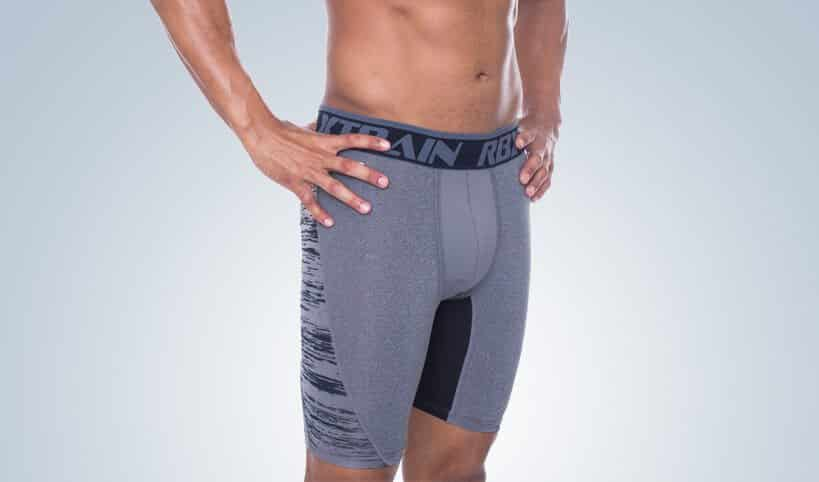 """RBX Men's Ventilated Flex 9"""" Compression Shorts"""