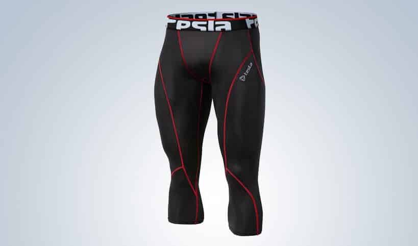 Tesla Men's Compression Capri Shorts Baselayer Cool Dry Sports Tights