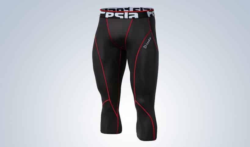 Tesla Men's Compression Capri Shorts Baselayer Cool Dry Sports Tights