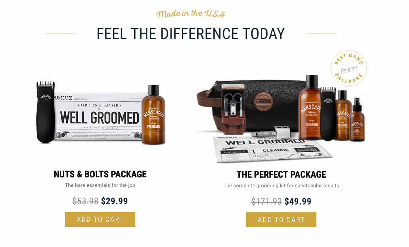 manscaped price points
