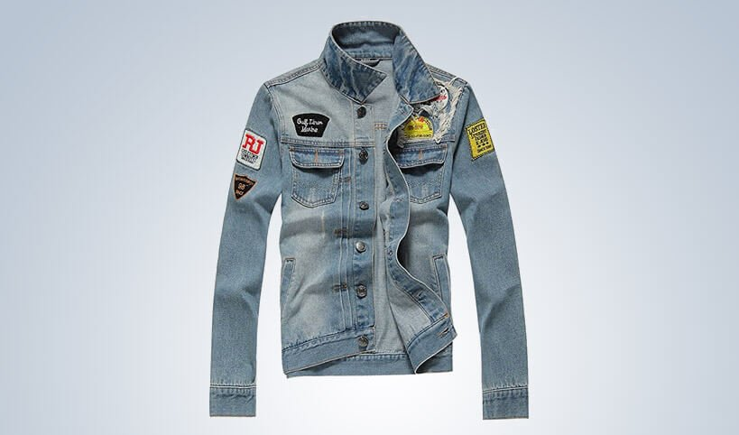 AvaCostume Men's Classic Lightweigth Jean Jacket Coat