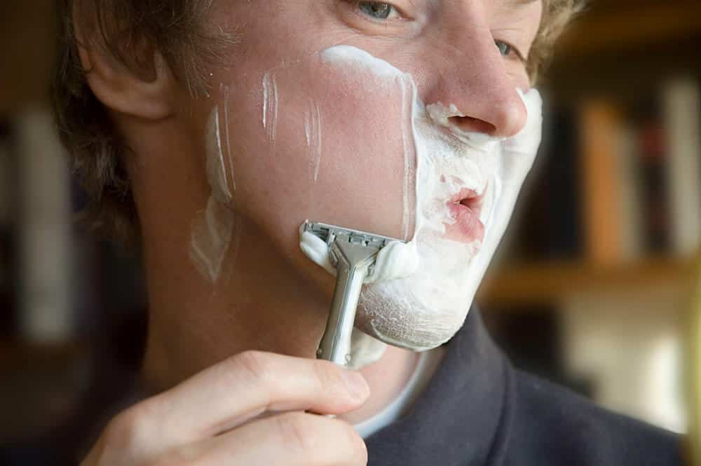 poor technique with safety razor