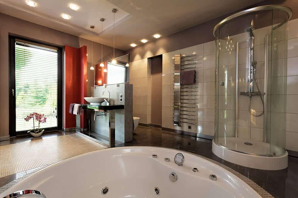 bathroom design for a shower speaker