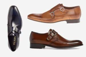 best double and single monk shoes