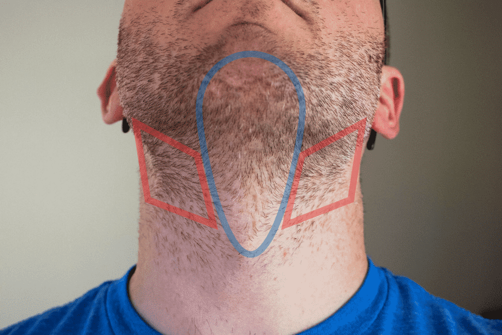 hair growth on neck