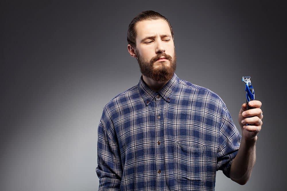 shaving your mustache