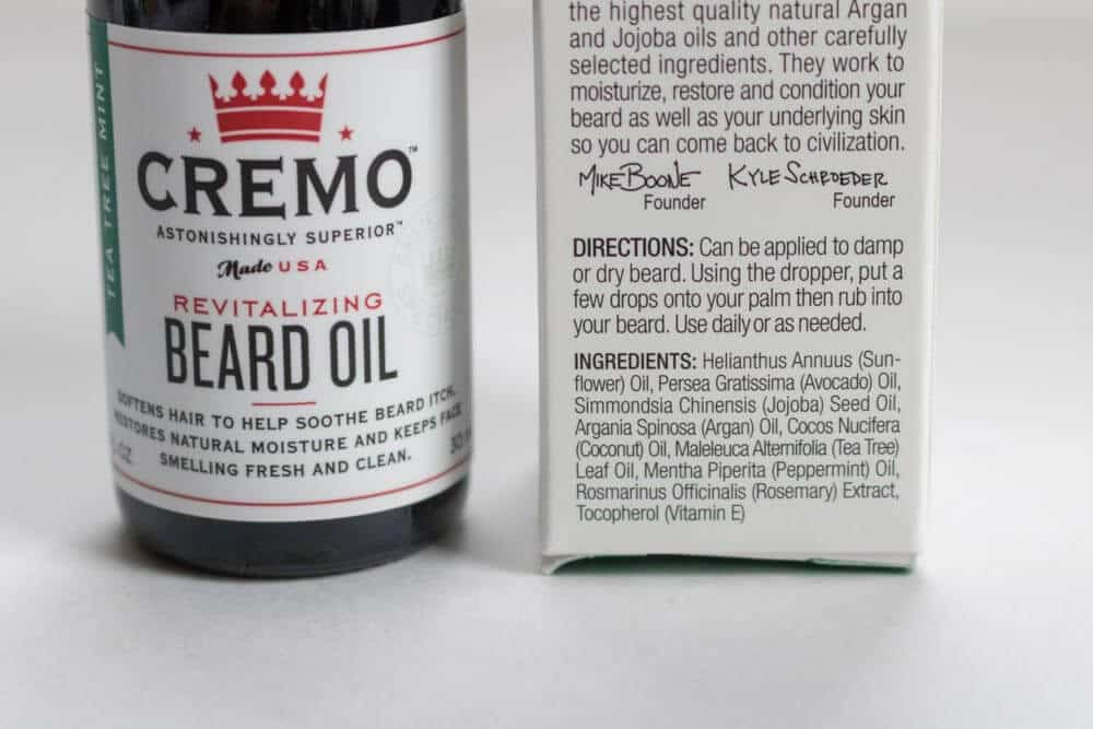 Cremo Beard Oil Ingredients
