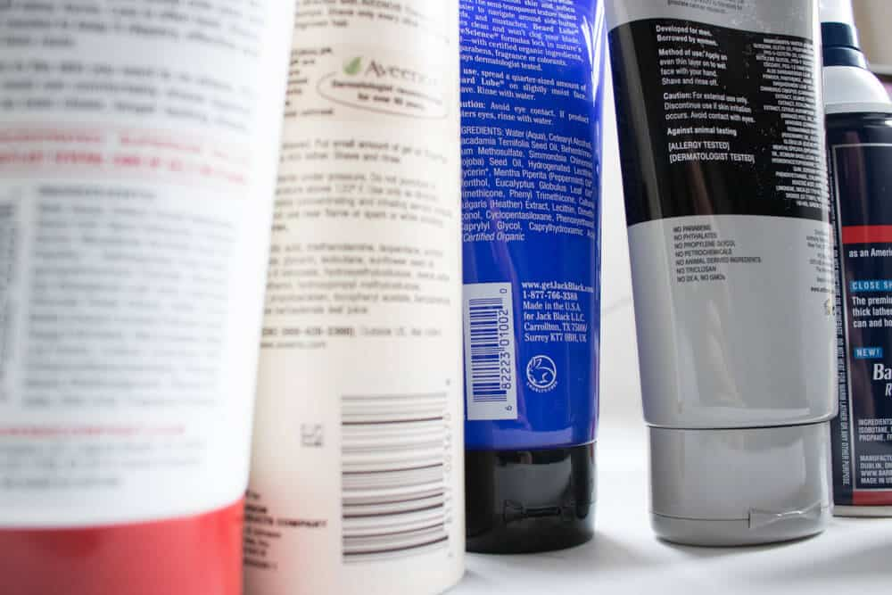 top quality ingredients found in shave creams