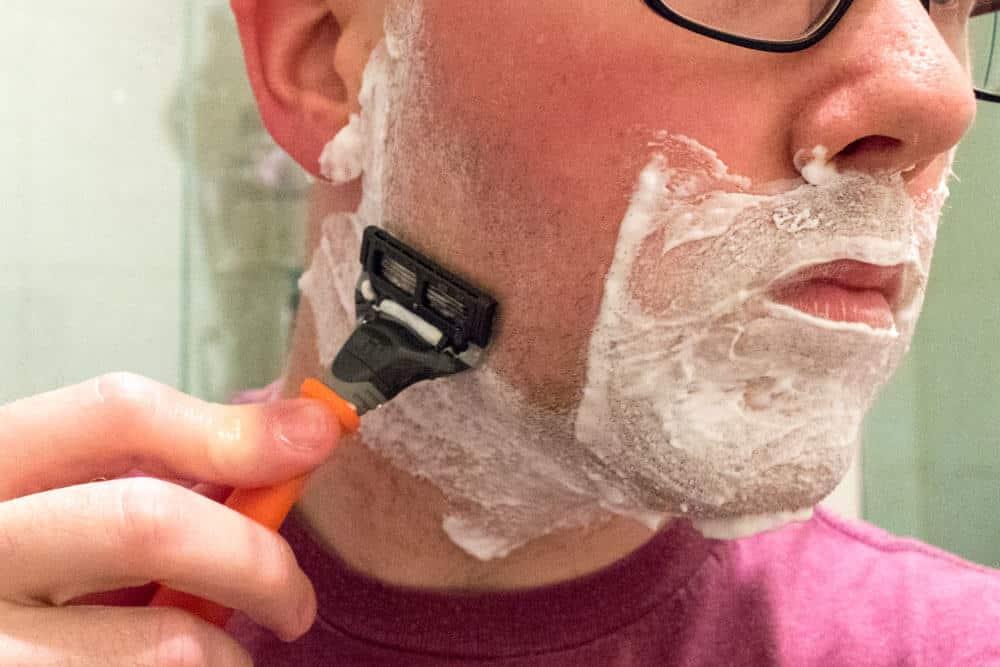 harrys review - shaving cheek