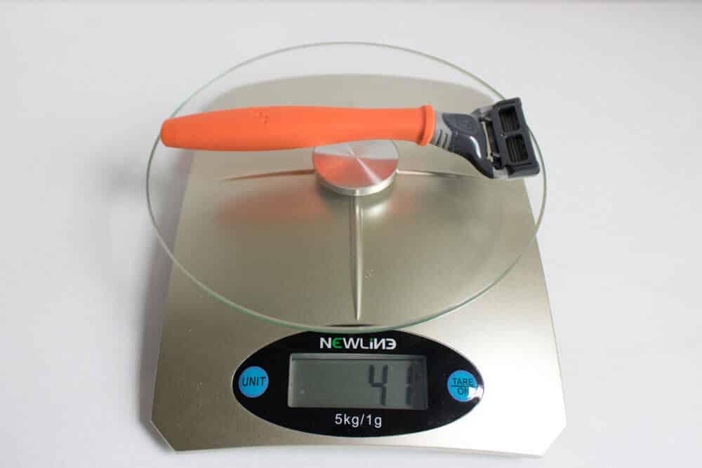 harrys review comparison - razor weight