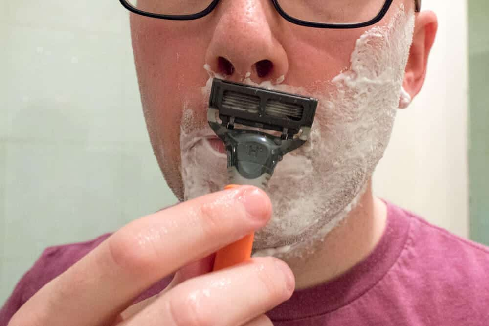 harrys review - shaving mustache