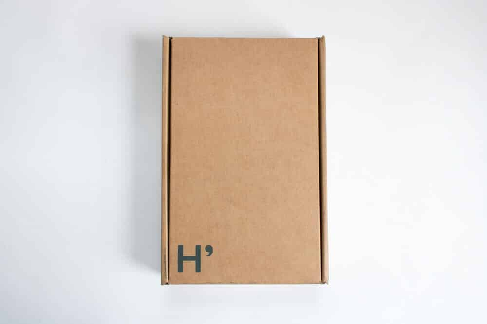 harrys review unboxing - packaging