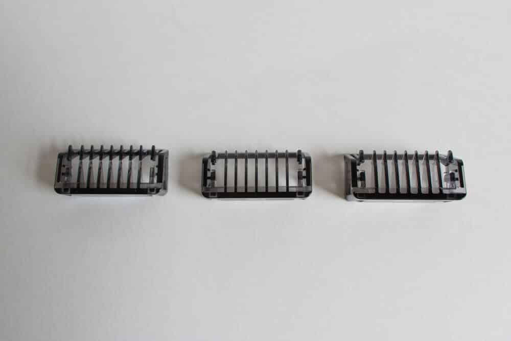 three different combs oneblade