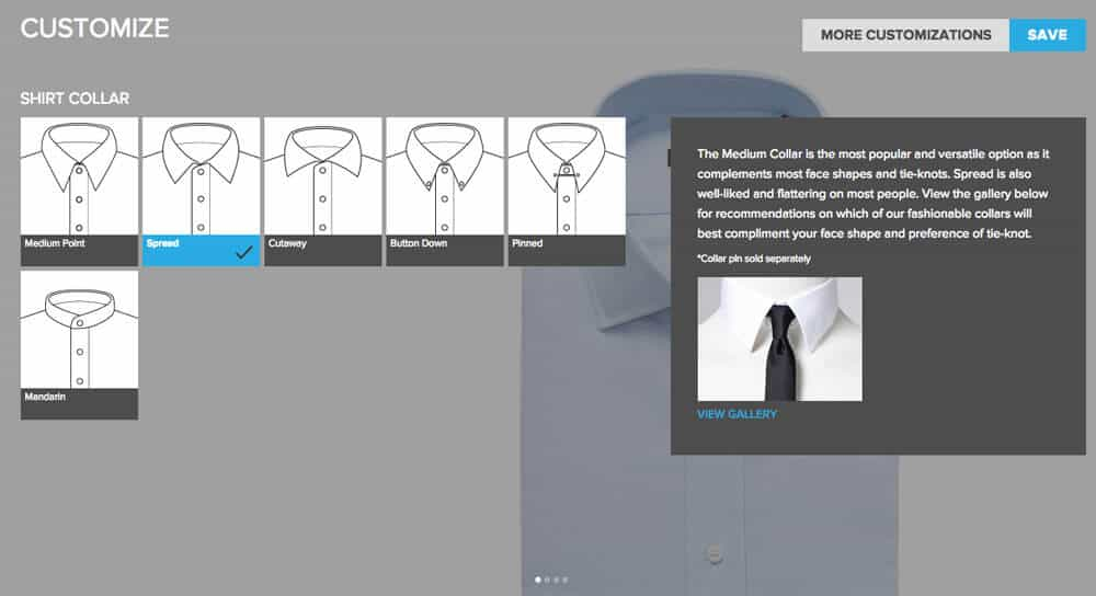 Indochino Review - Dress Shirt Collar