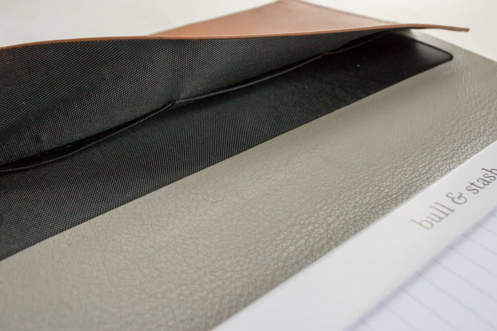 bull and stash journal review - business card holder