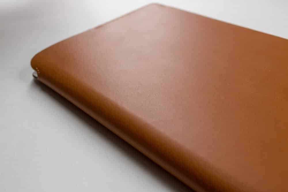 bull and stash journal review - leather cover