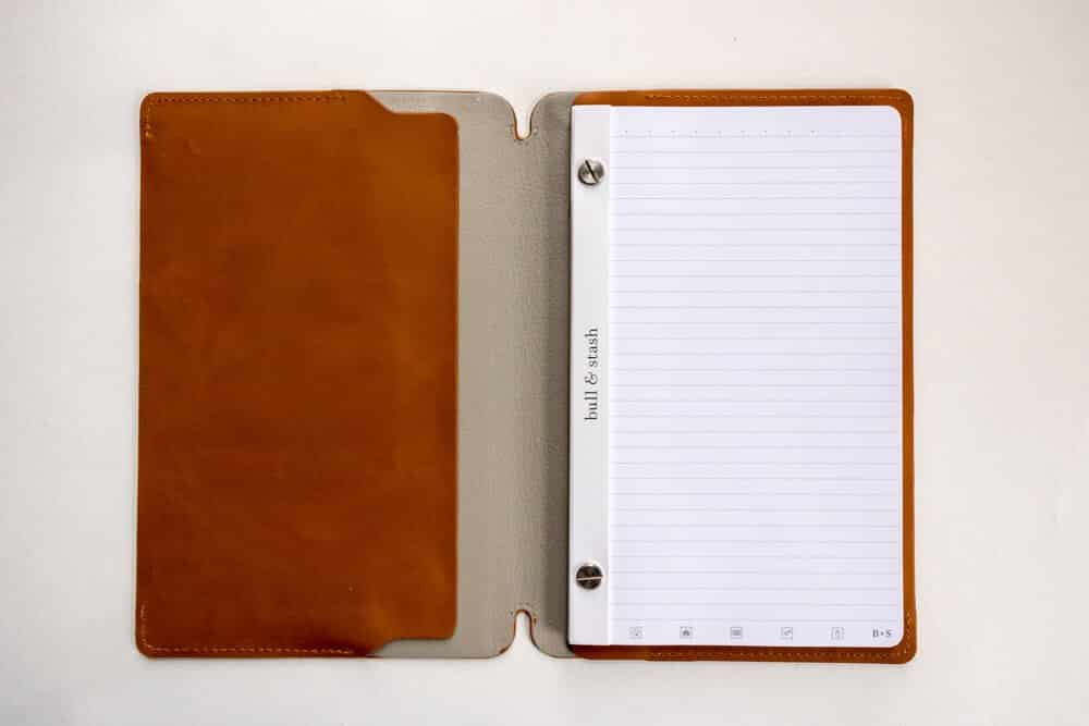 bull and stash journal review - inside view