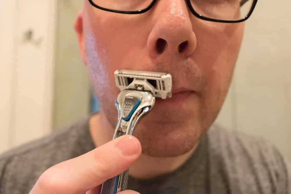 dollar shave club review - mustache trim