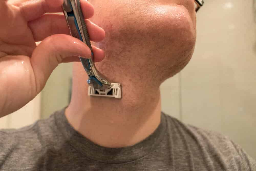 dollar shave club review - shaving neck