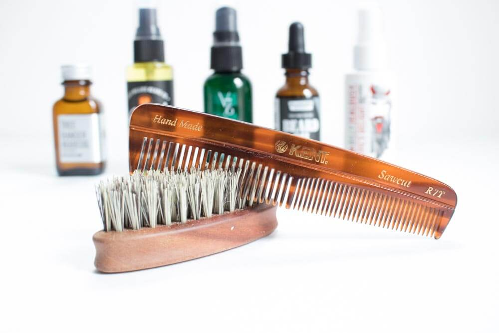 beard comb and brush